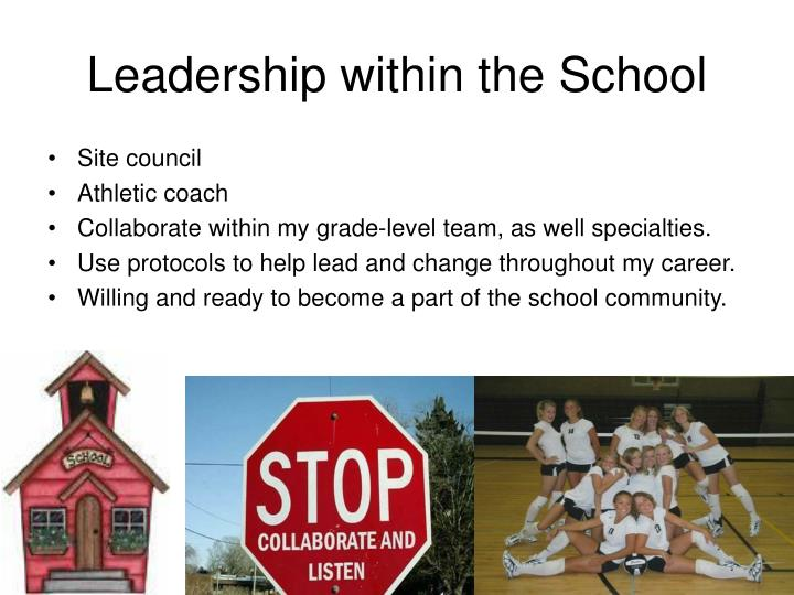 Leadership within the School