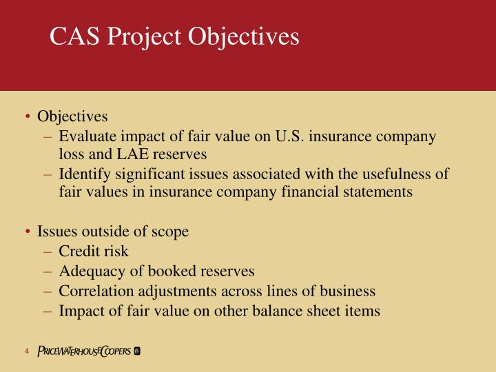 CAS Project Objectives
