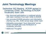 joint terminology meetings