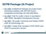 sdtm package 2a project