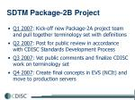 sdtm package 2b project