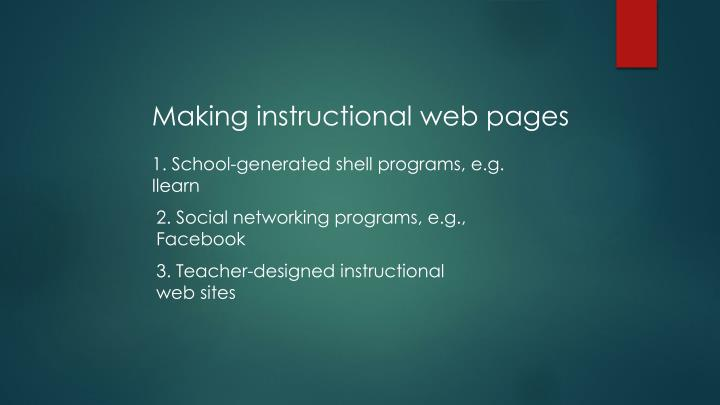 Making instructional web pages