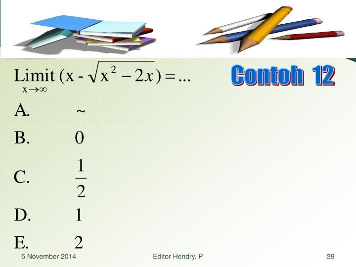 Contoh  12