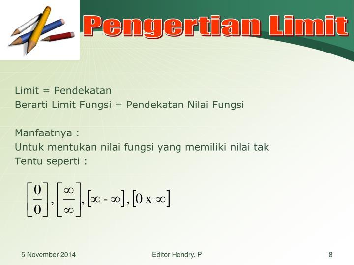 Pengertian Limit