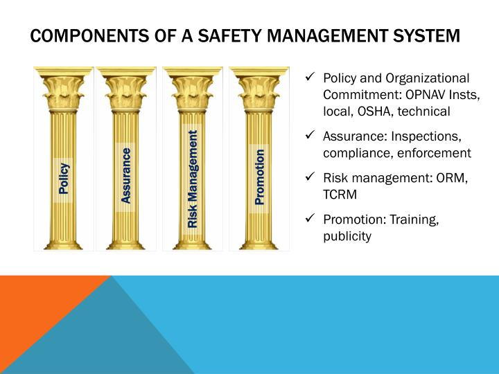 Components of a safety management system