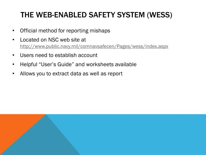 The web-enabled safety system (WESS)
