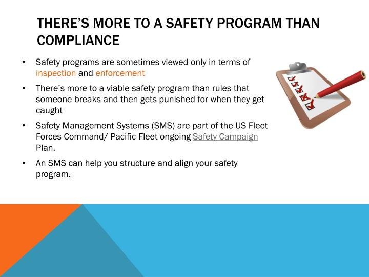 There's more to a safety program than compliance