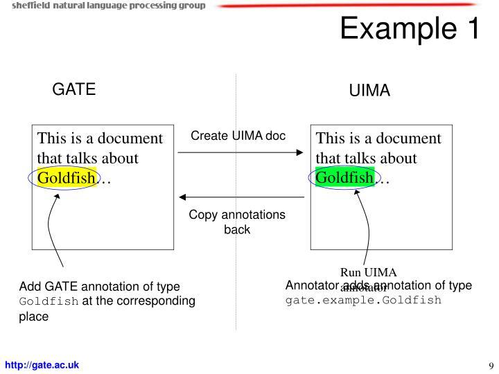 Create UIMA doc