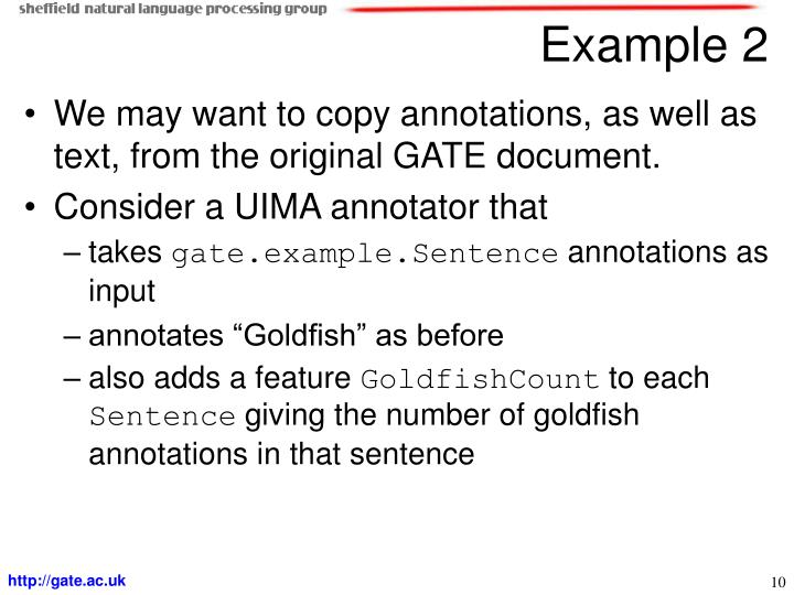 We may want to copy annotations, as well as text, from the original GATE document.