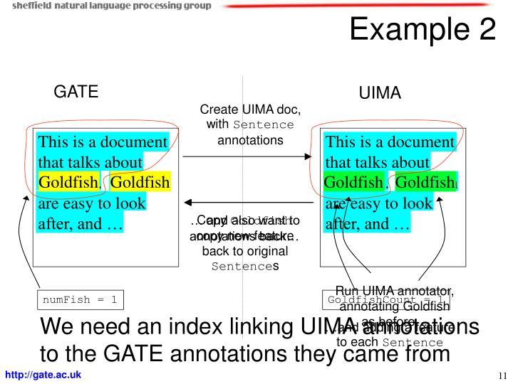 Create UIMA doc, with