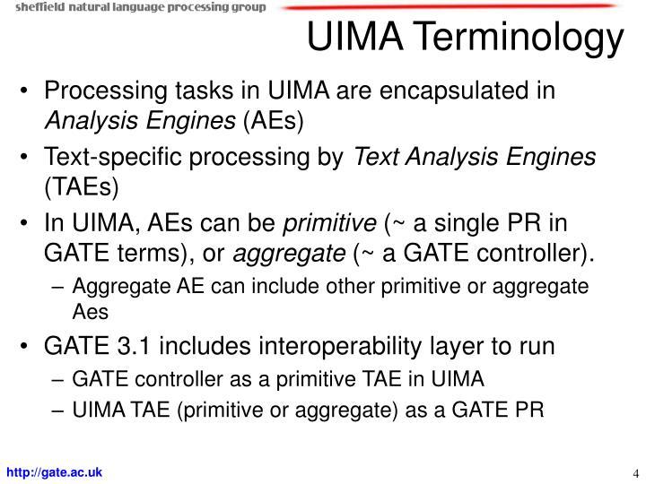 UIMA Terminology