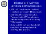 informal stb activities involving tih hazmat issues