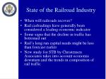 state of the railroad industry1