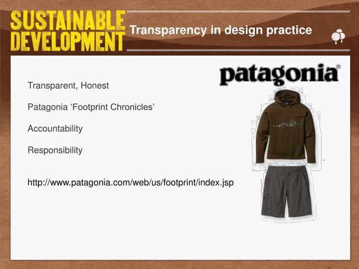 Transparency in design practice