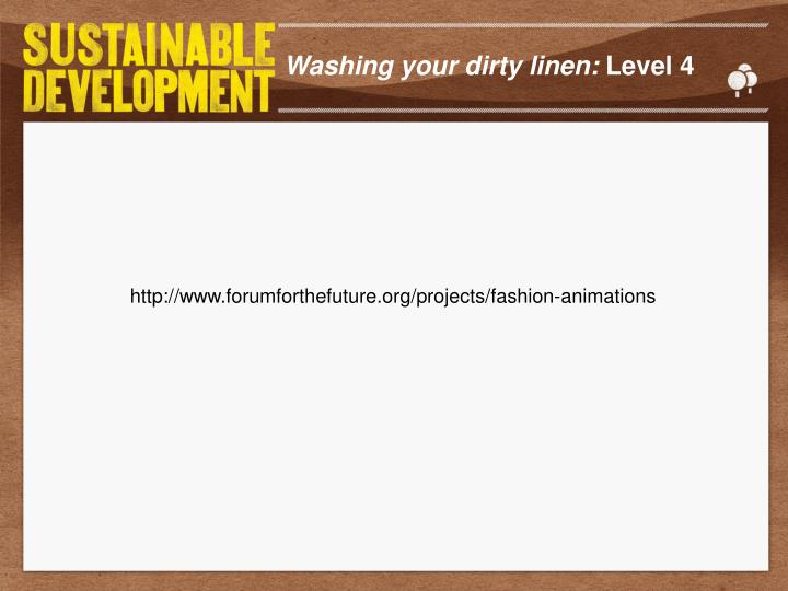 Washing your dirty linen: