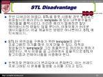 stl disadvantage
