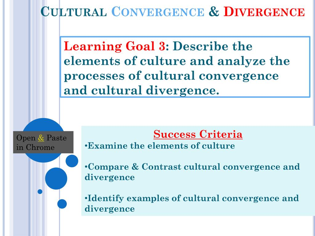 what happens in a cultural convergence