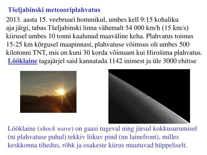 Tšeljabinski meteooriplahvatus