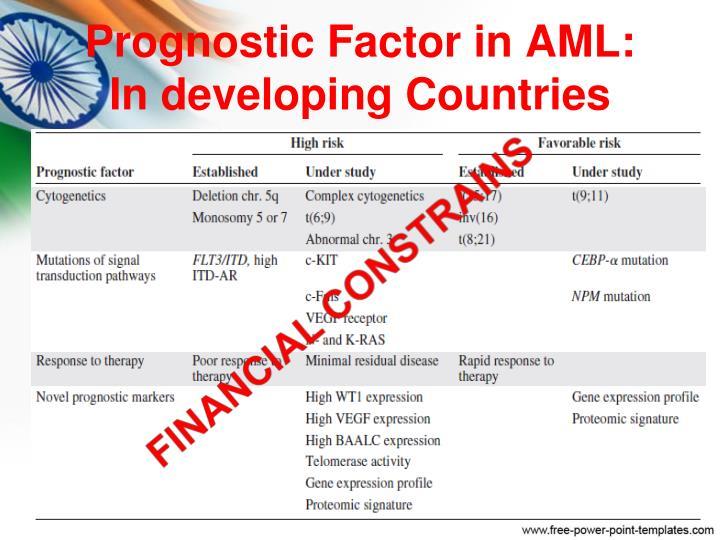 Prognostic Factor in AML: