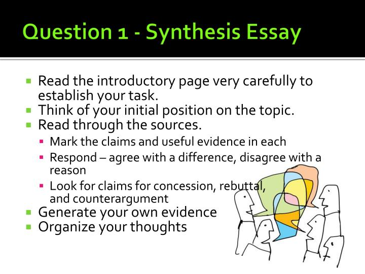 Question 1 - Synthesis Essay