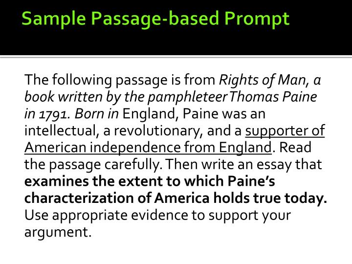 Sample Passage-based Prompt