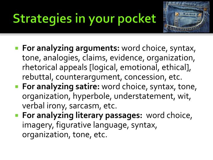 Strategies in your pocket