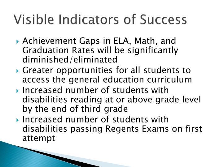 Visible Indicators of Success