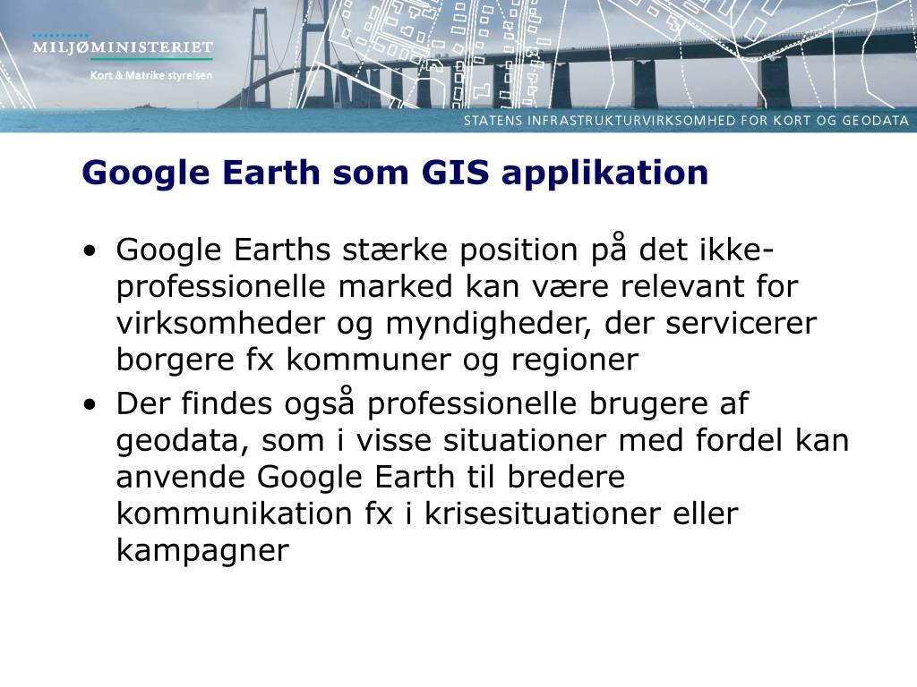 Ppt Google Earth Som Gis Applikation Powerpoint Presentation