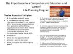the importance to a comprehensive education and career life planning program