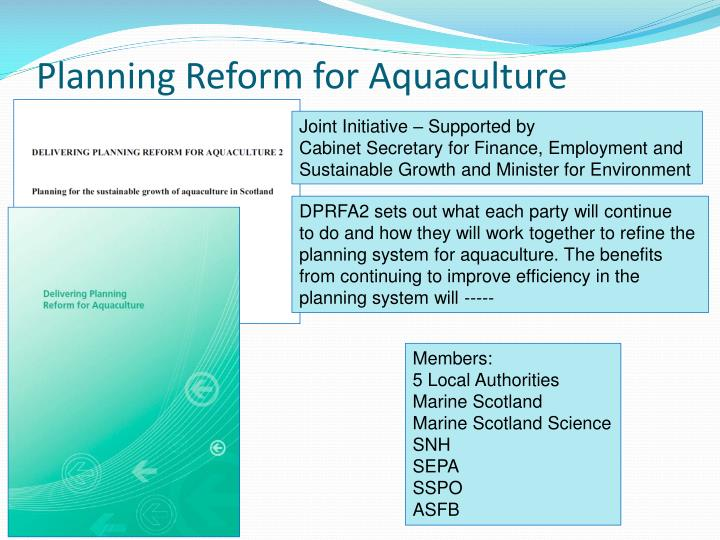 Planning Reform for Aquaculture