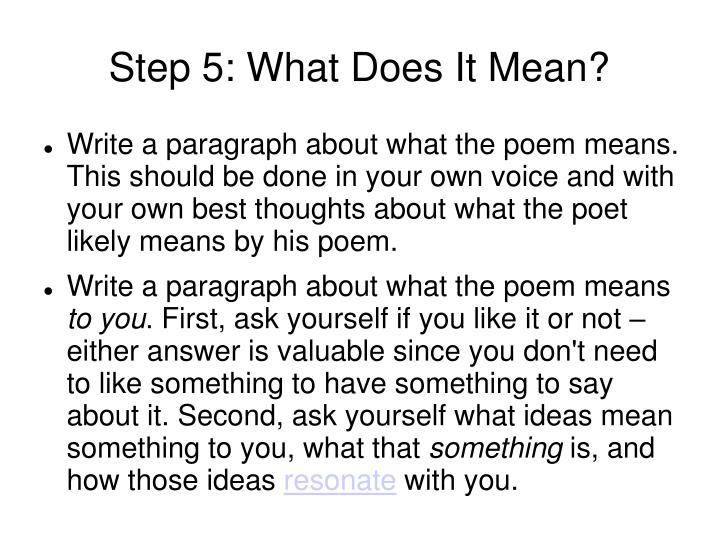 Step 5: What Does It Mean?