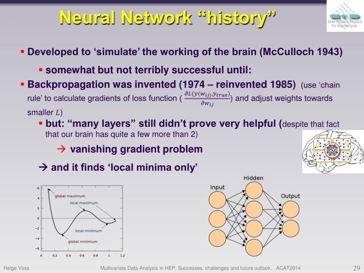 "Neural Network ""history"""
