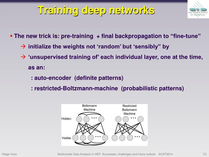 Training deep networks