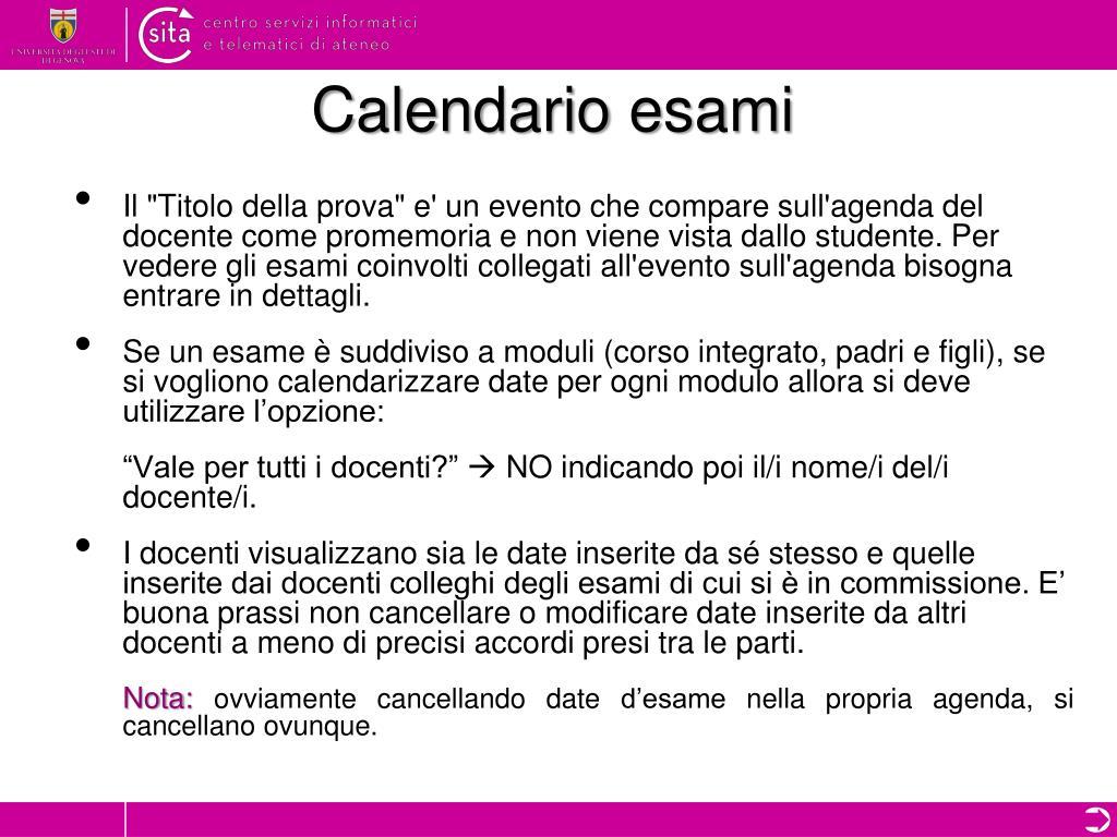 Calendario Esami Unige.Ppt Automazione Piani Di Studio Powerpoint Presentation