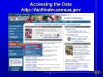 accessing the data http factfinder census gov