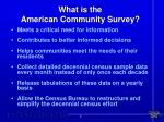 what is the american community survey