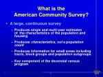 what is the american community survey1