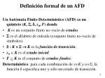 definici n formal de un afd