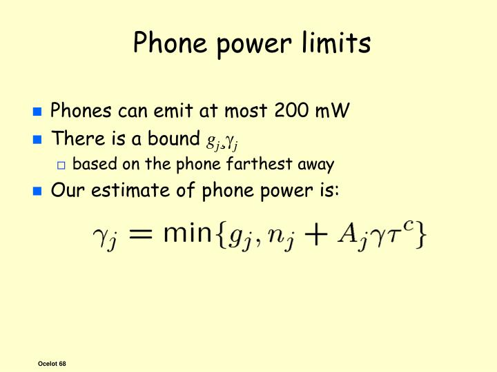 Phone power limits
