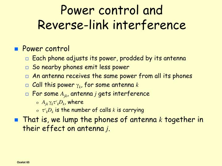 Power control and