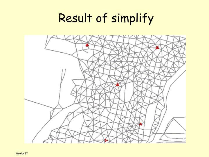 Result of simplify