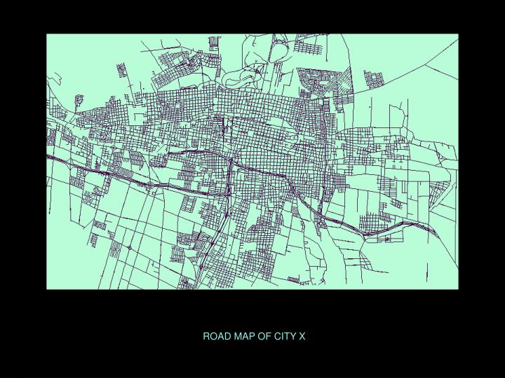 ROAD MAP OF CITY X