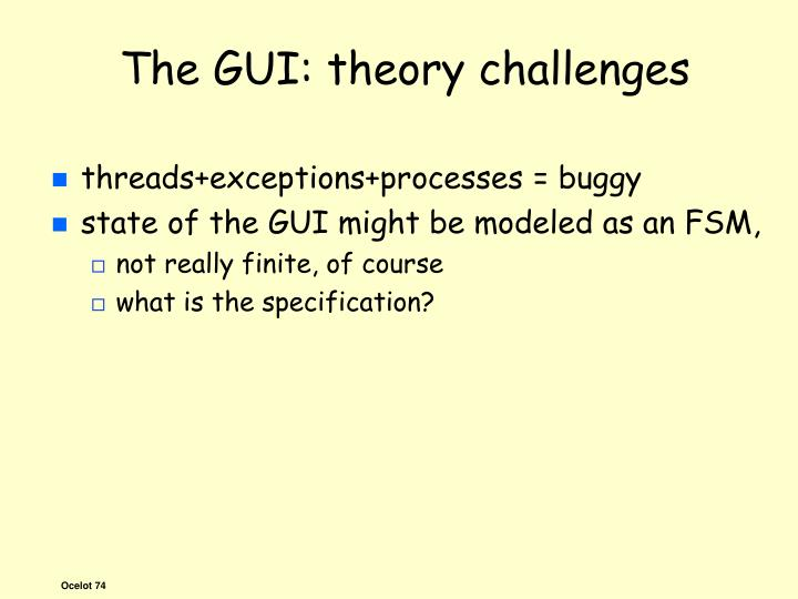 The GUI: theory challenges