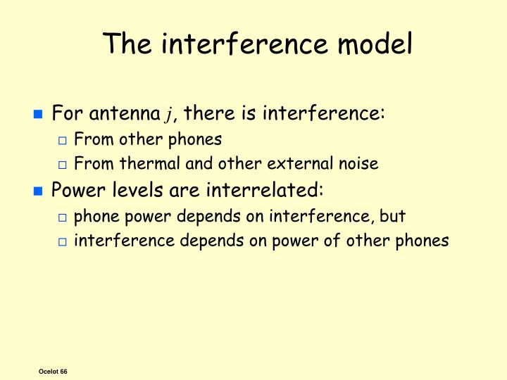 The interference model