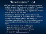 departmentation ctd1