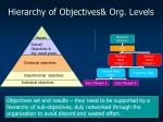 hierarchy of objectives org levels