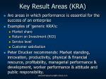 key result areas kra