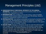 management principles ctd