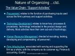 nature of organizing ctd2