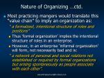 nature of organizing ctd3